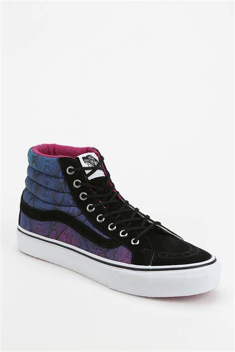 vans patterned high tops vans sk8 hi geo print women s high top sneaker urban
