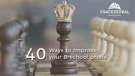 How To Get An Mba In Your 40s by Improve Your Mba Profile 40 Ways To A Winning Mba