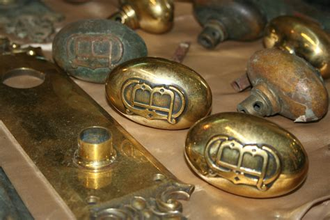 solid brass faceplate and door knob set for sale