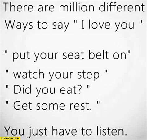 there are million different ways to say i you put