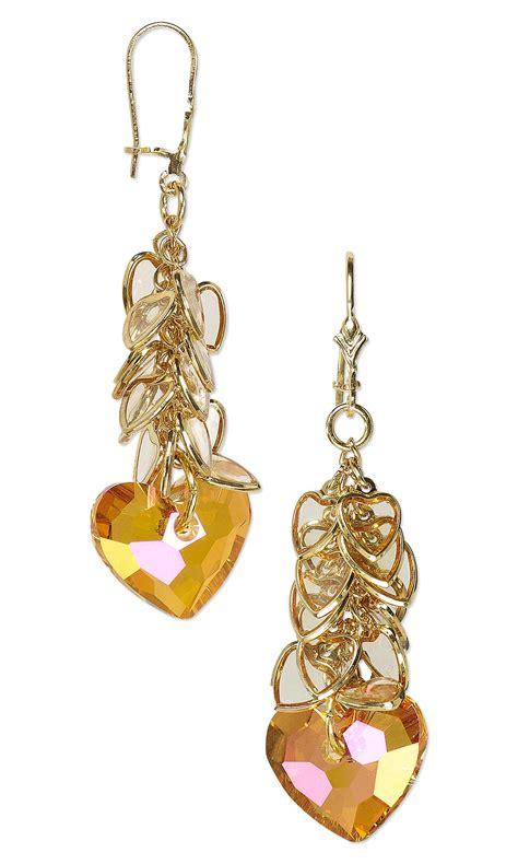 focal swarovski 174 crystals epoxy jewelry design earrings with swarovski drops and