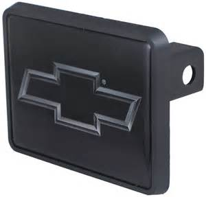 chevrolet silver bowtie trailer hitch receiver cover for