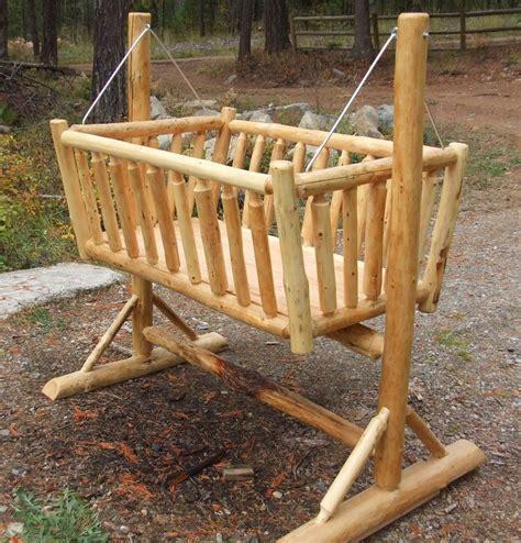 Cedar Log Baby Crib 30 Log Furniture Project Ideas