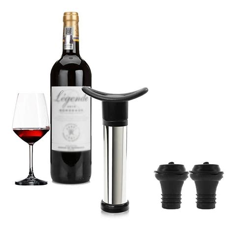 Tutup Botol Wine Vacuum Sealed miuk vacuum seal wine saver wine preserver remove air with 2 vacuum bottle stoppers alex nld