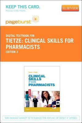 clinical skills  pharmacists elsevier