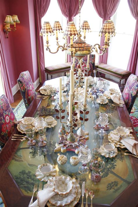 mackenzie childs l shades the colors and the painted table the harlequin