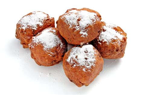 traditional new year oliebollen traditional new year pastry stock photo