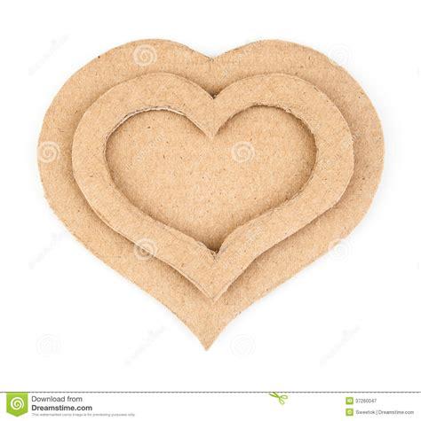 Handmade Hearts - handmade hearts applique made of cardboard royalty free
