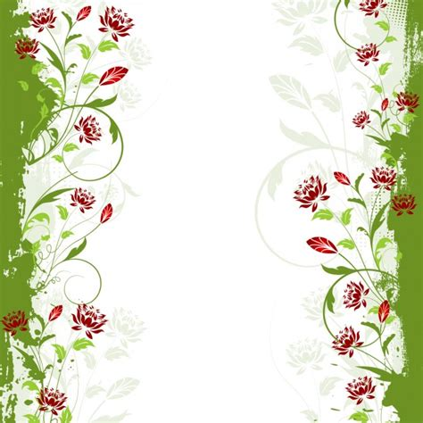 Floral In Green green flower borders www pixshark images galleries