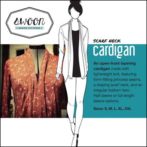 cardigan pattern sewing free scarf neck cardigan women swoon sewing patterns