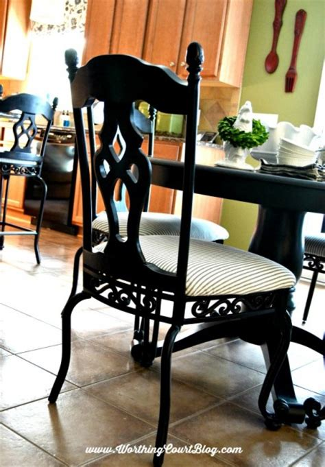spray paint chairs black transform kitchen chairs with spray paint and a