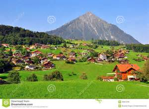Mountain Chalet Home Plans apline village stock image image of green country