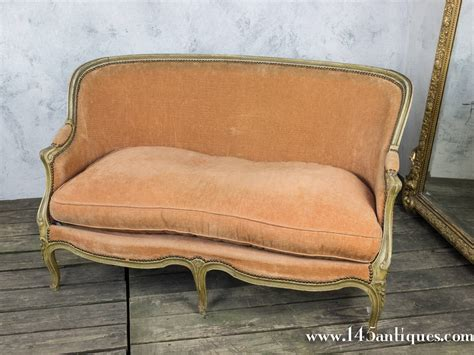 Small Settees For Sale Small Louis Xv Style Settee In Pale Apricot Velvet