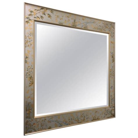 L V Mirror Italy Leather Size 25 Cm Best Quality Include Box 3 550 1980s large silver chinoiserie beveled mirror by la barge for sale at 1stdibs