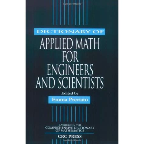 applied hydrogeology for scientists and engineers books dictionary of applied math for engineers and scientists