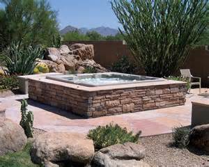 above ground pool landscaping above ground spas