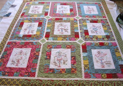 Quilts With Embroidered Blocks by Post Class Jayne S Quilt Carla Barrett