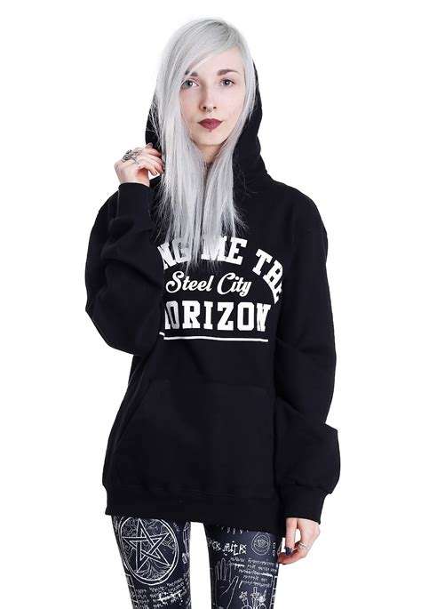 Hoodie Bring Me The Horizon Hitamrockzillastore bring me the horizon goat hoodie impericon uk