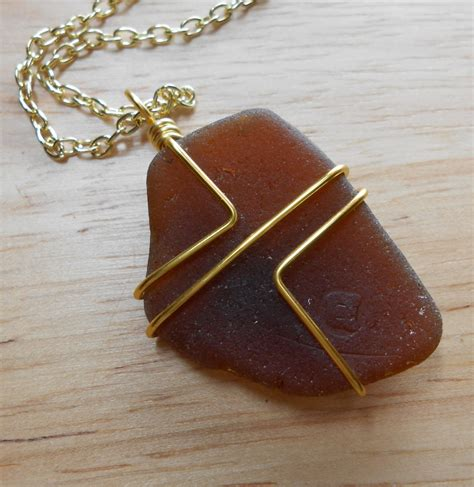How To Make Jewelry Out Of Wire - beach glass jewelry wire wrapped sea glass necklace in the