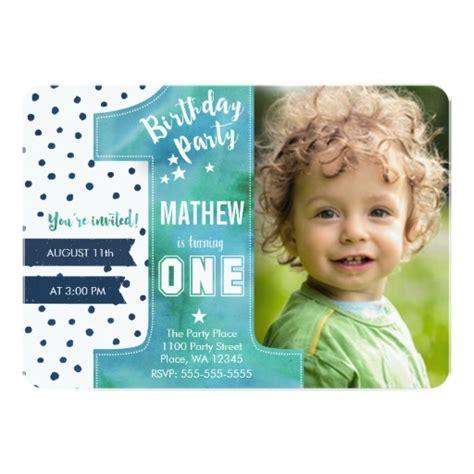 invitation for 1st birthday boy birthday invitation boy watercolor ladyprints