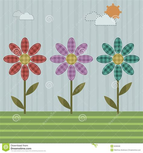 Patchwork Flowers - patchwork flowers royalty free stock photos image 8036598