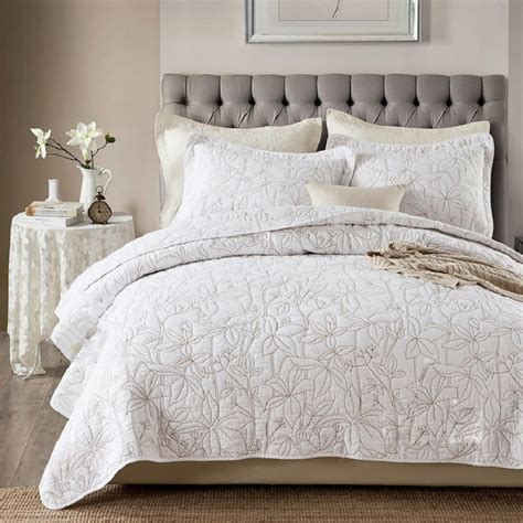 embroidered coverlet aliexpress com buy chausub white coverlet solid color