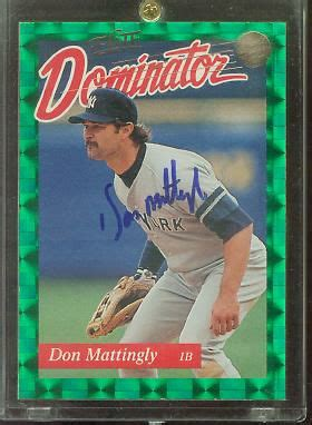 Don Mattingly Card Value by Don Mattingly 1993 Donruss Elite Dominator Autographed