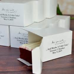Wedding Cake Favors by 5 X 3 Custom Printed Cake Slice Favor Boxes Set Of 50
