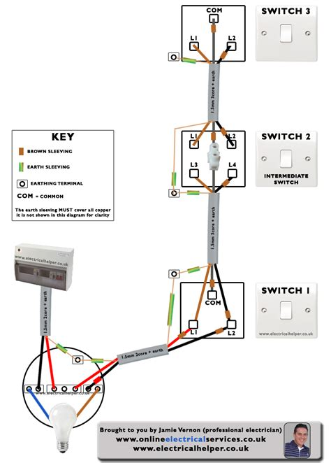 wiring diagram for 3 way lighting circuit circuit and