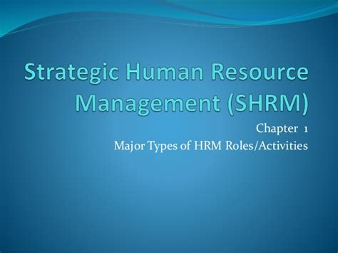 Mba In Strategic Management In Australia by Strategic Human Resource Management Shrm Mba 423 Human