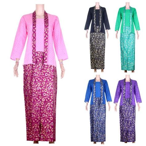 Setelan Blouse Balotely Pink Rok Batik Prada baju setelan kebaya embos rok batik prada ratna 5