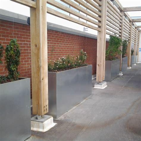 galvanised bespoke planters