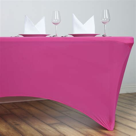 1 dozen 6 ft rectangle spandex stretch table covers fitted