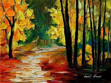 fall alley 2 by leonid afremov by leonidafremov on deviantart