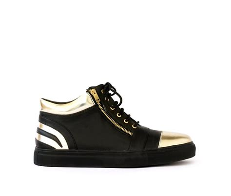 gold sneakers black gold sneakers