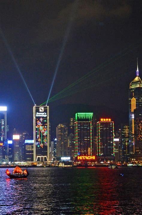 hong kong light show trip to hong kong 香港 victoria harbour 维多利亚港 symphony of