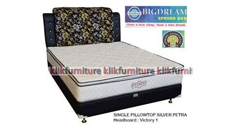 Silver Pillow Top Kasur 180x200cm Bigland Springbed Harga Springbed Bigdream Single Pillowtop Silver