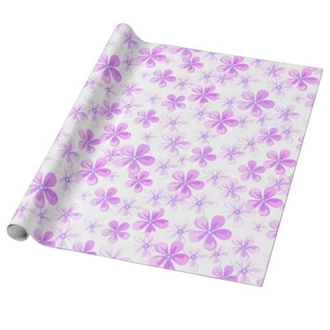pretty printable wrapping paper pretty pink purple daisies wrapping paper zazzle