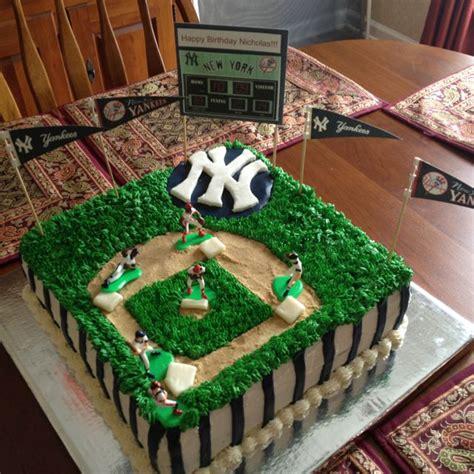 yankees baseball birthday cake random pinterest pastel de beisbol beisbol  cumpleanos