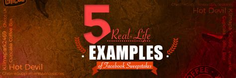 Exles Of Sweepstakes - 5 real life exles of facebook sweepstakes
