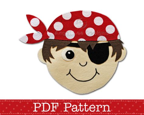 pirate applique template pdf applique pattern by