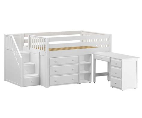 size desk bed bedroom size loft bed with desk white size