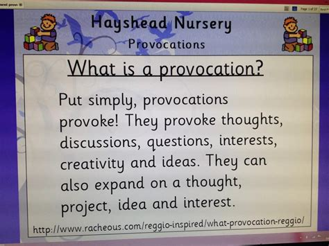 classroom layout definition a useful definition of a provocation in children s