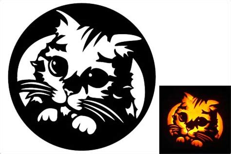 10 Free Pumpkin Stencils for Halloween Cat Lovers! | Band ... Pumpkin Pattern Free