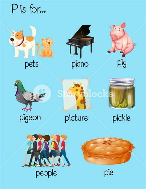 5 Letter Words With P many words begin with letter p royalty free stock image
