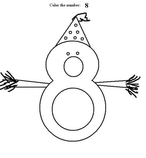 coloring pages for the number 8 number 8 coloring printable page for kids