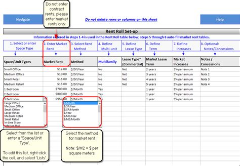 Rent Roll Help Microsoft Excel Rent Roll Template