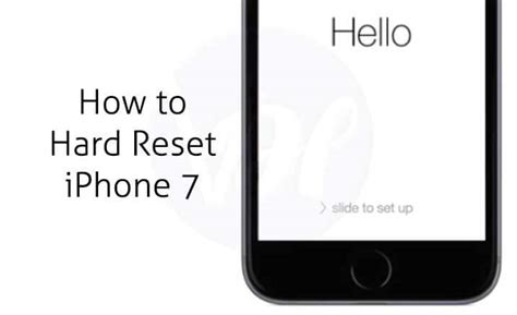 how to reset iphone 7 and 7 plus