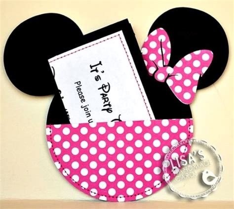 Minnie Mouse Handmade Invitations - minnie mouse birthday ideas pink lover