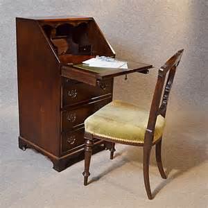 Small Antique Desks Uk Antique Bureau Writing Desk Mahogany Leather Top E